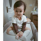 Baby Boys Romper Long Sleeve Tattoo Print