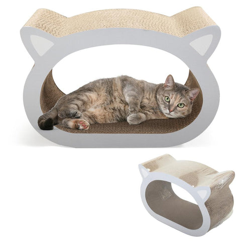 Durable Scratching Pad Cat-Headed Scratcher Bed Cute Modern Scratch Lounge Claws Healthy Protec Furniture Catnip Pet Toy CW016