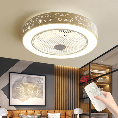 Celling Fan with Light Bedroom Ceiling Fan Light Living Room Lamp Integrated LED Fan Light Pure Copper Motor Ship From USA