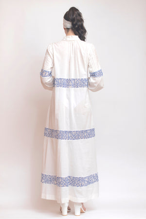 Button Down Cotton Voile Dress