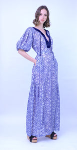Embroidered Cotton Chiffon Dress