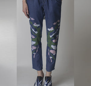 Splash Paint Denim Pants  -  C 27 -