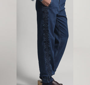 Gaucho Embroidered Denim Pants  W 20