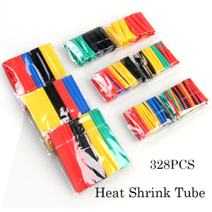 70/164/328/530Pcs Heat Shrink Tube Insulation Shrinkable Tube Assortment Polyolefin Ratio 2:1 Wrap Wire Insulated Cable Sleeves