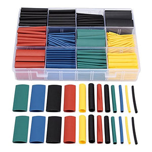 bestselling 530pcs Thermal contra Sleeve cable Heat Shrink Tube termoretractil pvc tube tubing  2:1 Wrap Wire Cable  free ship