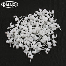 4MM Circle Path Circle cable clips cable nail wire clips 100PCS/bag