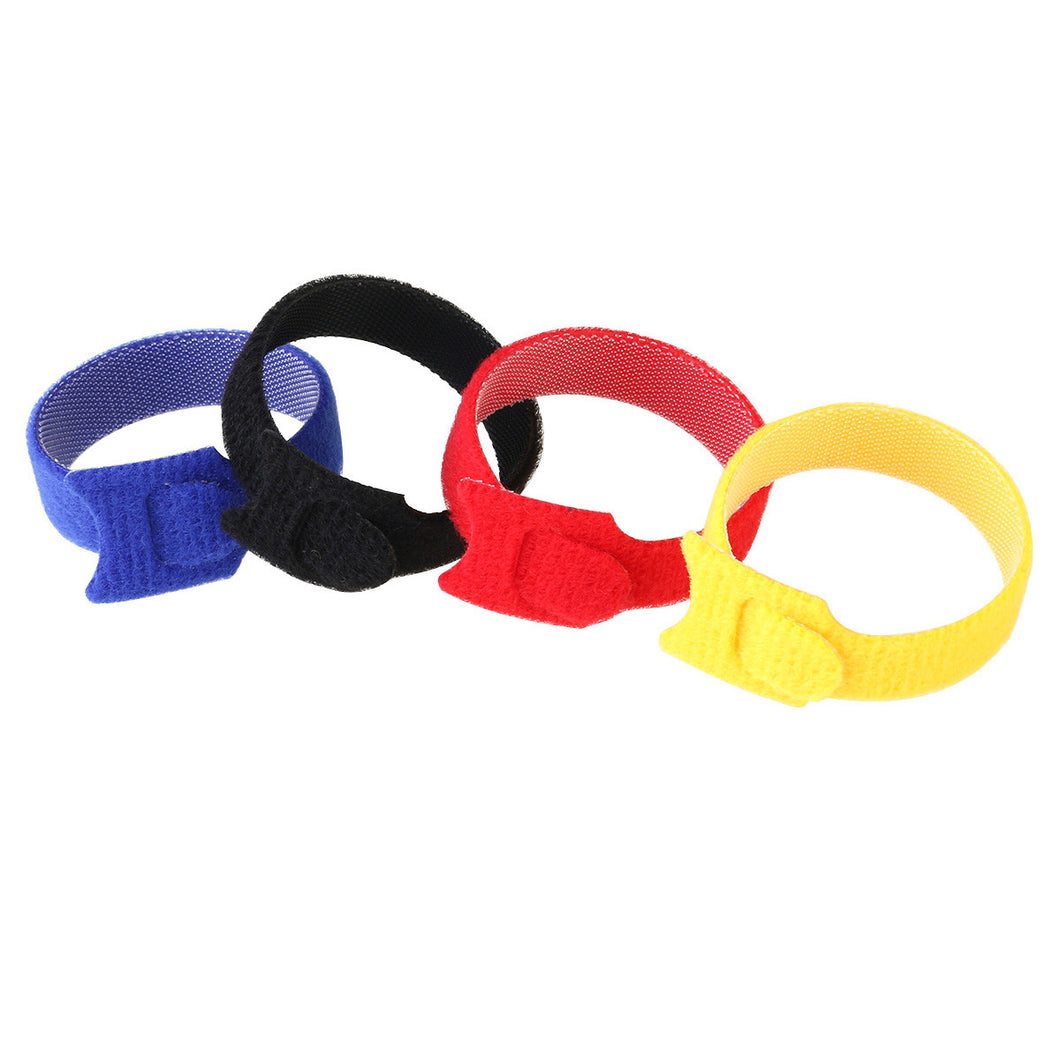 T-Shape Cable Straps Hook and Loop Reusable Fastening Cable Ties 100pcs