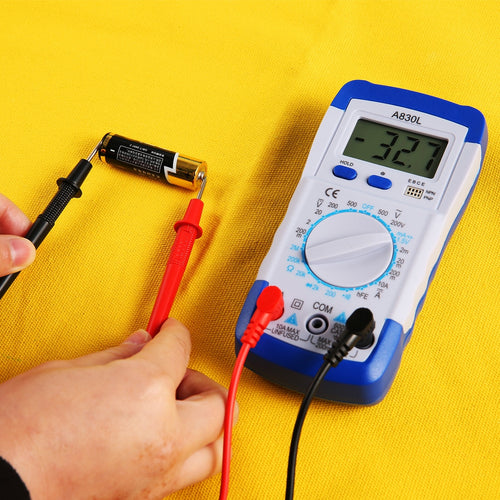 Digital Multimeter Electronic Measuring Instrument Electrical LCD AC DC Voltmeter Ohmmeter Test Practical Accessories