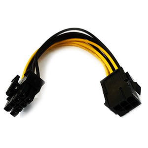 PCI 6-Pin To 8-Pin Graphic Card Power Adapter Cable Power Wire Adapter Cable