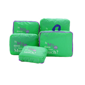 Five Pieces Set Luggage Suitcase Storage Bags Packing Travel Cubes