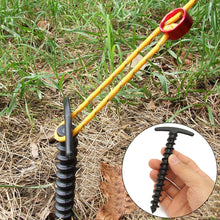 5Pcs Durable Nylon Screw Spiral Tent Peg Stakes Nail Outdoor Camping Awning Kit
