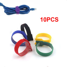 Reusable Cable Straps Cable Ties Hook & Loop Nylon Fastening Tape Wire Organizer for Cords Cable Management