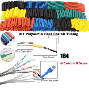 Polyolefin Shrinking Assorted Heat Shrink Tube Wire Cable Insulated Sleeving Tubing Set