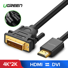 Ugreen HDMI to DVI DVI-D 24+1 pin Adapter 4K Bi-directional DVI D Male to HDMI Male Converter Cable for LCD DVD HDTV XBOX 3m 5m