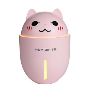 Ultrasonic Air Humidifier Aroma Diffuser Cat Shape Aroma Essential Oil Diffuser 320ml 3 in 1