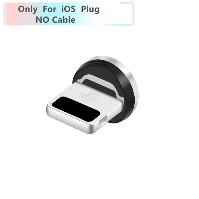 Magnetic Cable Braided LED Type C Micro USB Charging Cable for Apple iphone