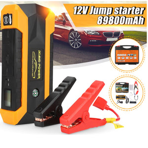 Car Jump Starter Booster Power Bank Tool Kit For Auto Starting Device