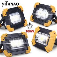 100W Led Portable Spotlight 30000lm Super Bright Led Work Light Rechargeable