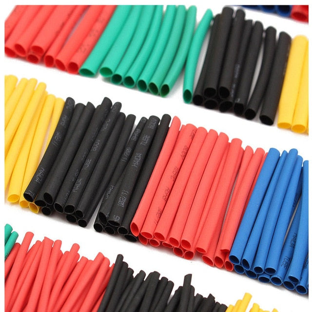 Multicolor/Black Polyolefin Shrinking Assorted Heat Shrink Tube Wire Cable Insulated Sleeving heat shrink tubing Set