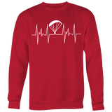 Paragliding Heartbeat EKG Sweatshirts - Sweater -  All Weather Sport