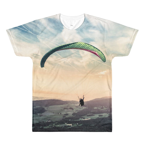 Dream to be Free Paragliding Men's Tees -  -  All Weather Sport