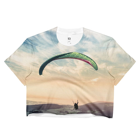 Dream to be Free Paragliding Women's Crop Top -  -  All Weather Sport
