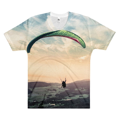 Dream to be Free Paragliding Men's V-Neck -  -  All Weather Sport
