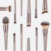 Luxury Champagne Makeup Brushes Set - Makeup