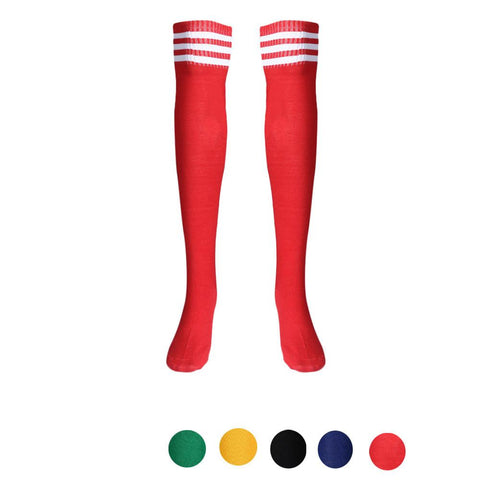 1 Pair Thigh High Socks Over Knee Sport Running Girls Football Socks High Quality