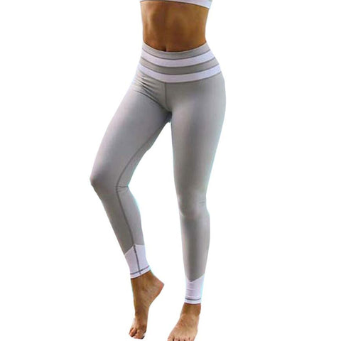 Yoga Pants Sports 2017 Sexy High Waist Stretched Gym Clothes Running Compression Tights Women Sports Leggings Fitness #EW