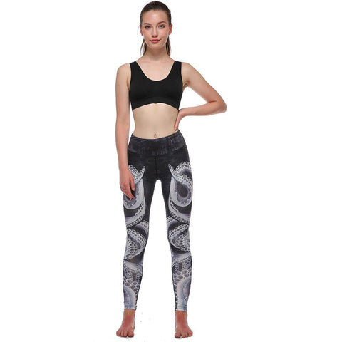 High Waist Workout Sport Leggings Women Quick Dry Printed Yoga Pants Athletic Gym Running Leggings Compression Tights #E0