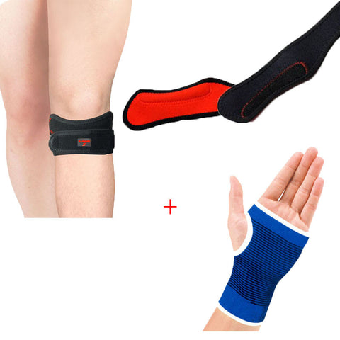 Gloves Hand Palm Gear Protector Elastic Brace Gym Sports plus Protector Adjustable Gym Sports Patella Knee