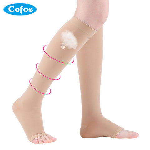 Cofoe A Pair Medical Varicose Veins Socks 15-21mmHg Pressure Level 1 Medical Socks Varicose Veins Sock Compression Sock Hot Sell