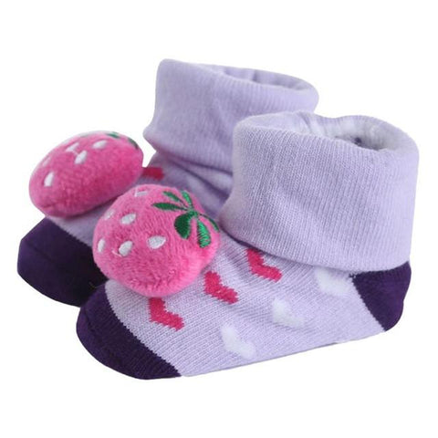 1Pair Newborn Baby Anti-slip Socks Lovely and Charming animal design Cotton Boots