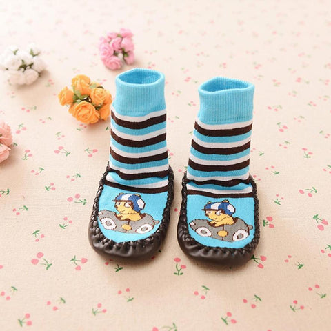 Cartoon Unisex Kids Toddler Baby Anti-slip Sock Cotton Shoes Short Boots Slipper Socks