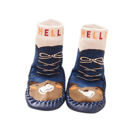 Cartoon Kids Unisex Cotton Toddler Baby Anti-slip Sock Shoes Short  Boots Slipper Socks