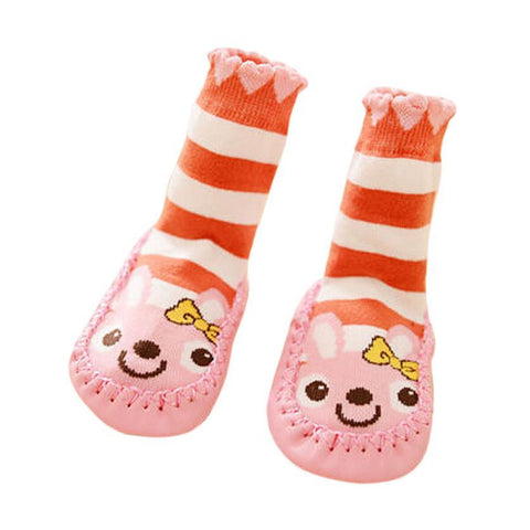 Baby Unisex Rabbit Stripe Cartoon Toddler Anti-slip Short Sock Kids Cotton Warm Socks
