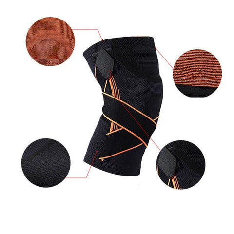 3D Weaving Knee Brace Basketball Breathable Hiking Cycling Knee Support Professional Protective Sports Knee Pad #S0