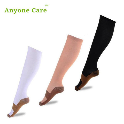 Anyone Care Anti-Fatigue Compression Socks Great for travel Varicose veins Women and Men's Miracle copper socks