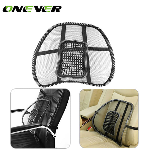 Comfortable Mesh Back Brace Lumbar Cushion Support Car Cushion Office Seat Chair Black Lumbar Cushion