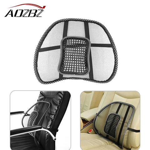 Aozbz Car Auto Seat Back Cushion Mesh Back Brace Lumbar Cushion Support with Massage for Office Home Car Seat Chair VentilatePad