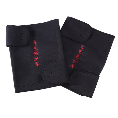 Pair of Magnetic Therapy Thermal Self-heating Knee Pad Belt Knee Support Brace Protector