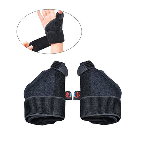 Pair of Thumb Spica Splint Support Wrist Brace Strap for Carpal Tunnel Syndrome Sprain Arthritis Pain Relief
