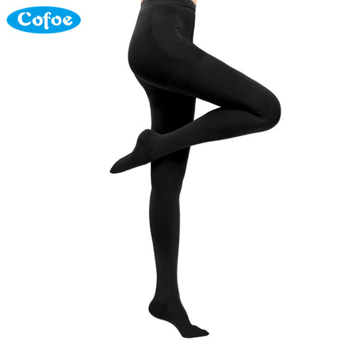 Cofoe A Pair Medical Varicose Veins Socks 15-21mmHg Level 1 Pressure Pantyhose Socks Compression Socks Woman Sexy Slimming