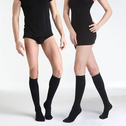 Men Women Leg Support Stretch Compression Socks Below Knee Socks Varicose Veins Circulation Compression Shape Slim Calf Leg Sock