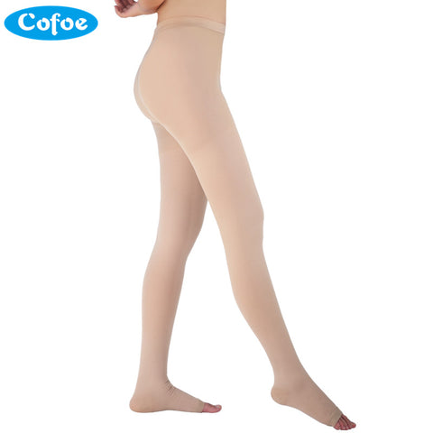 Cofoe A Pair Medical Varicose Veins Socks 34-46mmHg Pressure Level 3 Pantyhose Socks Varicose Veins Sock Compression Socks