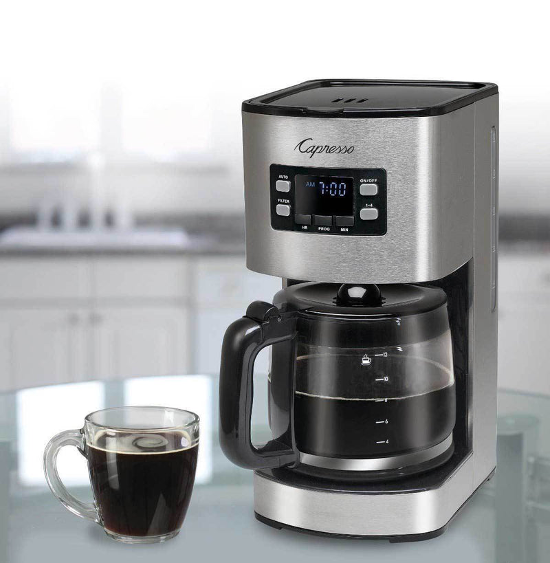 Capresso SG300 12-Cup Stainless Steel Coffee Maker (1439998443562)