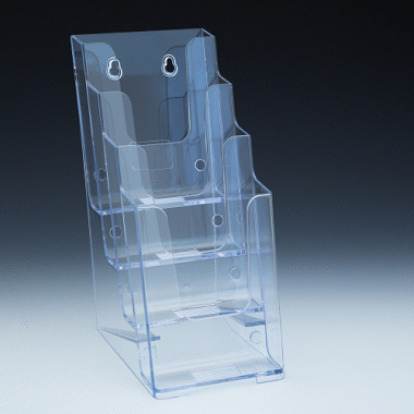 Brochure Holder - Tri-fold - Stacked (4C4)
