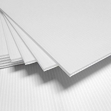 Coroplast 4' x 8' Sheet - White (4 mm thick)