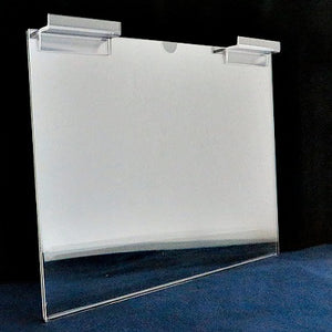 "Slatwall Single Page Holder - 11"" x 8.5"" (landscape)"